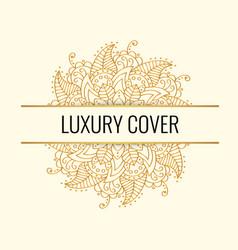 Luxury elegant cover golden mandala on vector