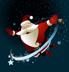 Magic Santa Claus vector image