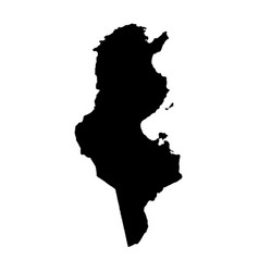 Map tunisia country and capital isolated vector