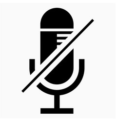 Mic mute icon vector