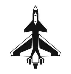 Military fighter jet icon simple style vector image vector image