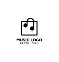 Music shop logo template icon logo design vector