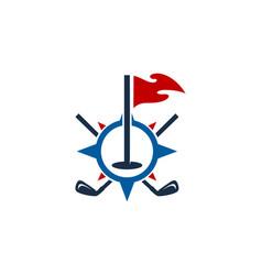 navigation golf logo icon design vector image