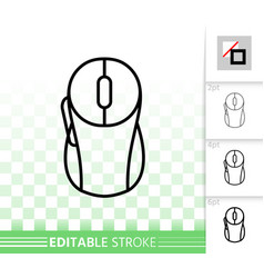 pc mouse simple black line icon vector image