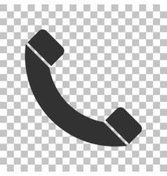 Phone sign Dark gray icon on vector image