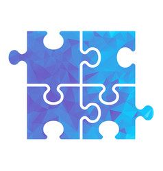 puzzle blue triangle vector image