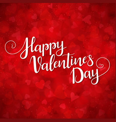 Red background for valentines day vector