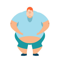 redhead fat guy glutton thick man fatso vector image