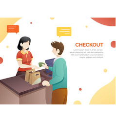 retail woman cashier vector image