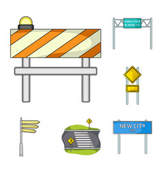 Road junctions and signs and other web icon in vector