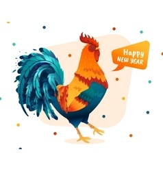 rooster for the new year 2017 vector image