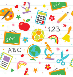 school seamless pattern childish school vector image