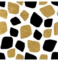Seamless background of golden and silvern mosaic vector