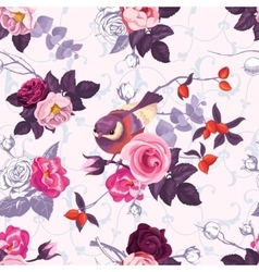 Seamless pattern with colorfull bunches of roses vector image