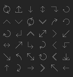 set of linear arrow vector image