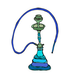 shisha bong hooka hookah with smoking pipe vector image