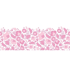 Soft pink floral silhouettes horizontal seamless vector image vector image