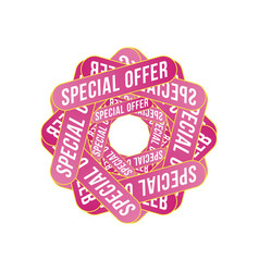special offer sign template design for vector image