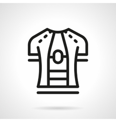Sport shirt simple line icon vector
