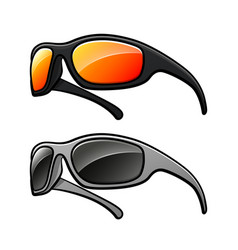 Sunglasses isolated drawing design vector