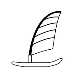 Surfboard with sailing icon vector