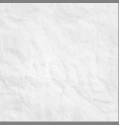 texture of white crumpled paper background vector image