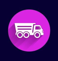 tipper truck building icon button logo symbol vector image