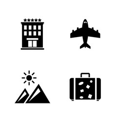 travel holiday simple related icons vector image