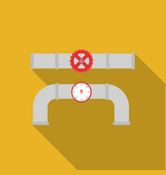 valve and meter icon in flat style isolated on vector image