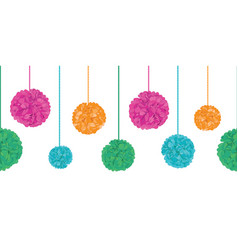 Vibrant colorful birthday party paper pom vector
