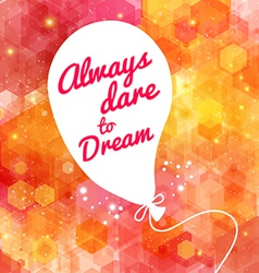 White drawn balloon with message on the lovely vector image
