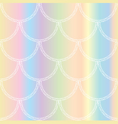 white mermaid tail texture fish scales vector image