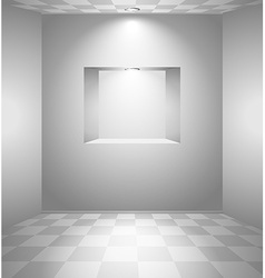 White room with niche vector
