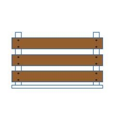 wood box empty vector image