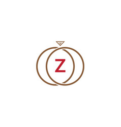 z letter ring diamond logo vector image