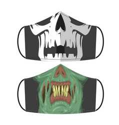 zombie mask vector image