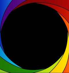 Colorful shutter aperture background vector