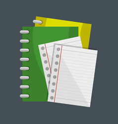 notebook school supply icon vector image vector image