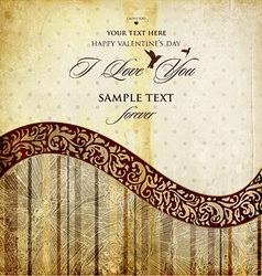 Rustic Valentines Card vector image vector image