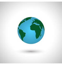 Simple earth icon globe vector image vector image