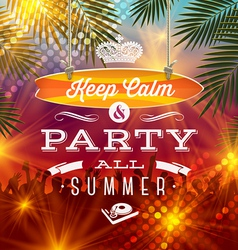 Summer holidays party greeting - type design vector image