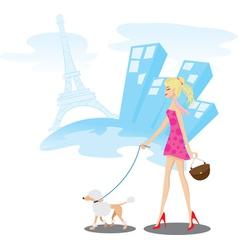 walk paris vector image