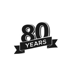 80 years anniversary logotype isolated vector image vector image