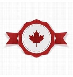 Canada patriotic Label with Ribbon vector image