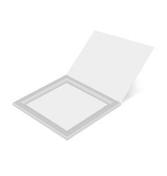 cardboard box open mock up template vector image