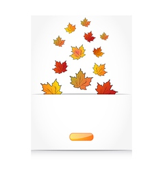 Fall maple leaves autumn background vector image vector image