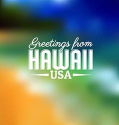 Hawaii Touristic Card vector image