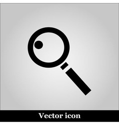 magnifying glass on grey background vector image vector image