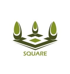 Park or emblem design element vector image