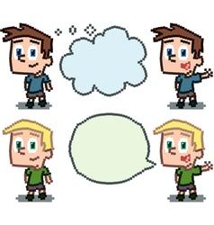 pixel kids vector image vector image